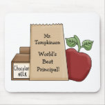 Lunch bag/Apple-World's Best Principal!