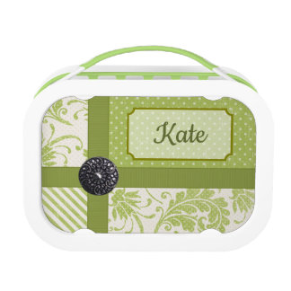Lunch Box, Polkadot Damask Lunch Box