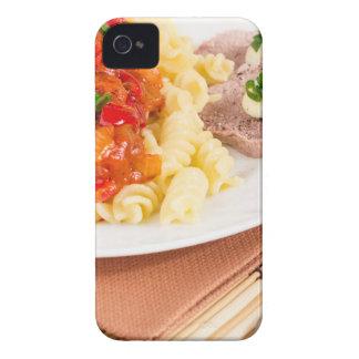 Lunch dish of Italian pasta, vegetable sauce Case-Mate iPhone 4 Case