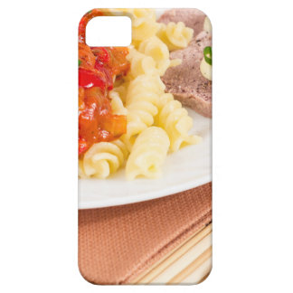 Lunch dish of Italian pasta, vegetable sauce iPhone 5 Cover
