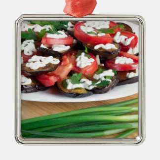 Lunch for a vegetarian metal ornament