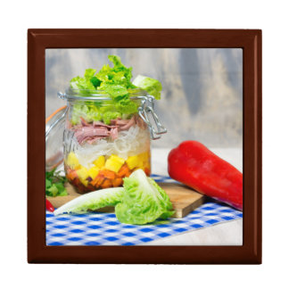 Lunch in a glass gift box