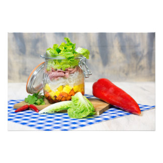 Lunch in a glass photo print