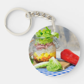 Lunch in a glass Single-Sided round acrylic keychain