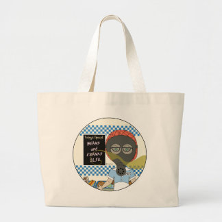 Lunch Lady - Gas Mask Beans and Franks Day Jumbo Tote Bag