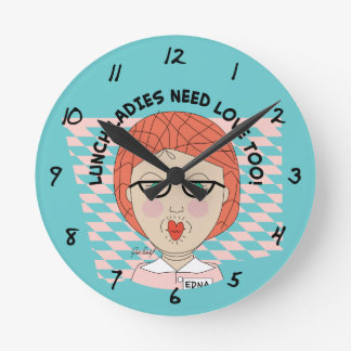 Lunch Lady-LUNCH LADIES NEED LOVE TOO! Wallclocks
