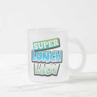 Lunch Lady - Super Lunch Lady 10 Oz Frosted Glass Coffee Mug