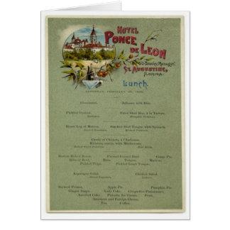 Lunch Menu, Ponce de Leon Hotel, St. Augustine Note Card