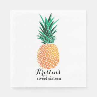 Lunch Napkins for Luau Party Personalized Paper Napkin