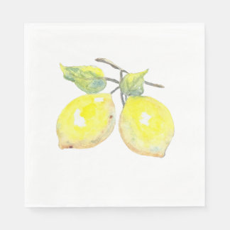 Lunch Napkins with Lemon Design Paper Napkin