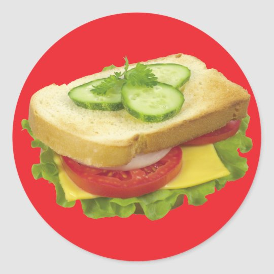 Lunch Sandwich Classic Round Sticker