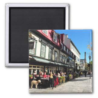 Lunch Vieux Quebec City Street Canada Magnet