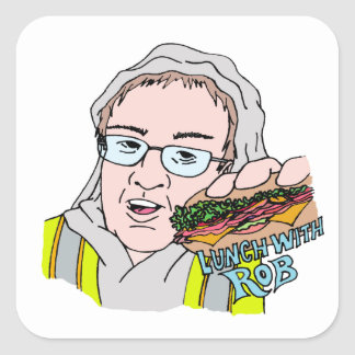 Lunch With Rob! Square Sticker