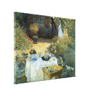 Luncheon by Claude Monet, Vintage Impressionism Canvas Print