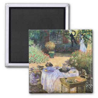 Luncheon Celebration Claude Monet Fine Art Square Magnet
