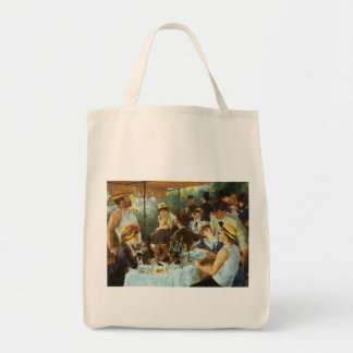 Luncheon of the Boating Party by Pierre Renoir Grocery Tote Bag