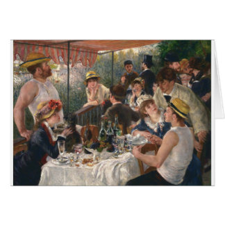 Luncheon Of The Boating Party Card