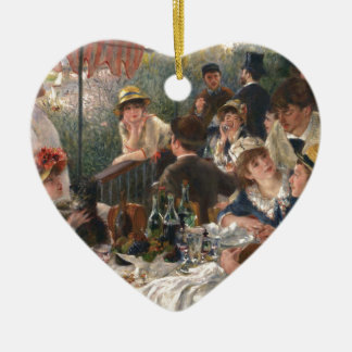 Luncheon of the Boating Party Ceramic Heart Ornament