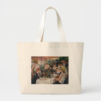 Luncheon of the Boating Party - Renoir Large Tote Bag