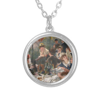 Luncheon of the Boating Party - Renoir Silver Plated Necklace