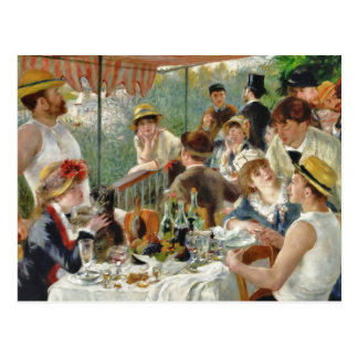 Luncheon of the Boating Party Vintage Renoir Postcard
