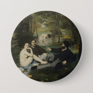 Luncheon on the Grass by Edouard Manet 3 Inch Round Button