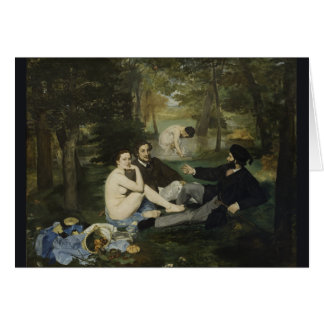 Luncheon on the Grass by Edouard Manet Card