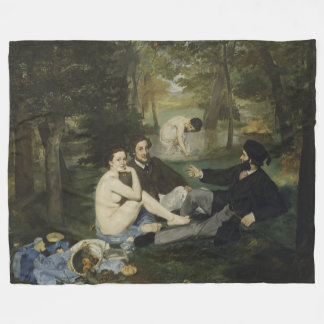 Luncheon on the Grass by Edouard Manet Fleece Blanket