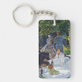 Luncheon on the Grass, Center Panel Claude Monet Double-Sided Rectangular Acrylic Keychain