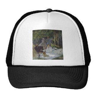Luncheon on the Grass, Central panel (1865) Hats