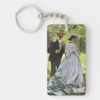 Luncheon on the Grass Claude Monet Double-Sided Rectangular Acrylic Keychain