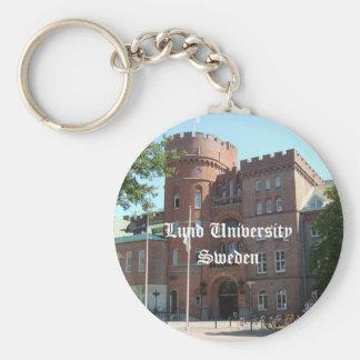 Lund University Castle Basic Round Button Keychain
