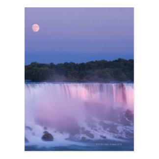Lune au-dessus des chutes du Niagara Carte Postale