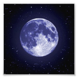 Lune de la terre photo sur toile