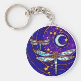lune de libellule porte-clefs