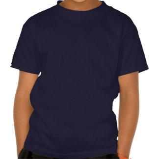 Lune orange de Jack-o -lantern de chat heureux de T-shirt
