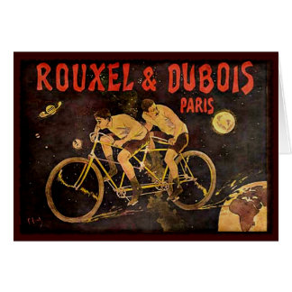 Lunel Vintage Tandem Cycling Card