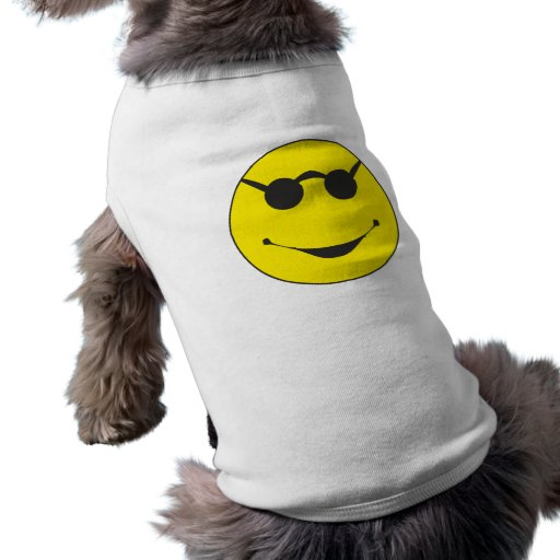 lunette de soleil sunglasses smilie t-shirt pour chien