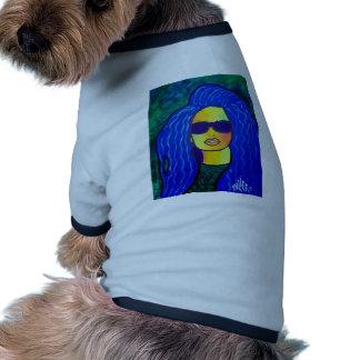 Lunettes de soleil bleues de femme par Piliero Manteau Pour Animal Domestique