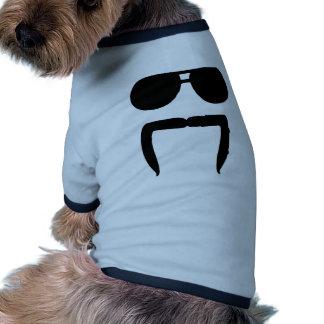 Lunettes de soleil de moustache manteaux pour animaux domestiques