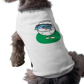 lunettes de soleil de port de balle de golf fraîch t-shirt pour animal domestique