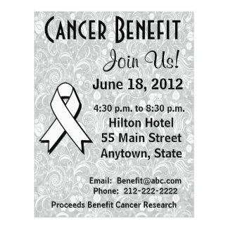 Lung Cancer Awareness Benefit Gray Floral Flyer
