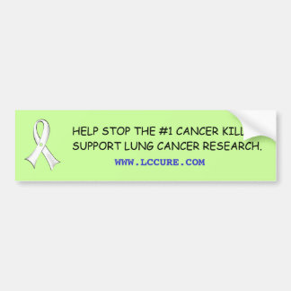 Lung Cancer Awareness Bumper Sticker
