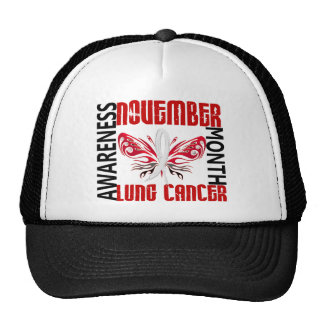 Lung Cancer Awareness Month Butterfly 3.4 Trucker Hat