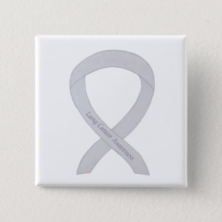 Lung Cancer Awareness Pearl Ribbon Custom Button