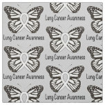 Lung Cancer Butterfly Awareness Ribbon Fabric