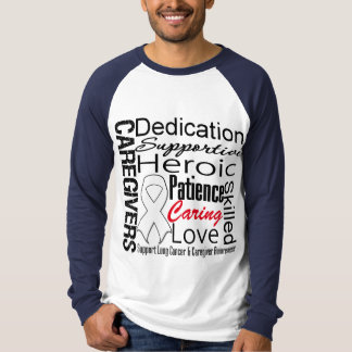 Lung Cancer Caregivers Collage T-Shirt