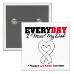 Lung Cancer Every Day I Miss My Dad 2 Inch Square Button