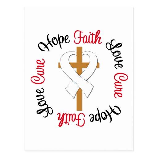 Lung Cancer Faith Hope Love Cross Post Cards