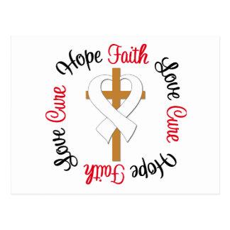 Lung Cancer Faith Hope Love Cross Postcard